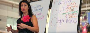 Michelle running her Persuasive Presentation Skills Masterclass